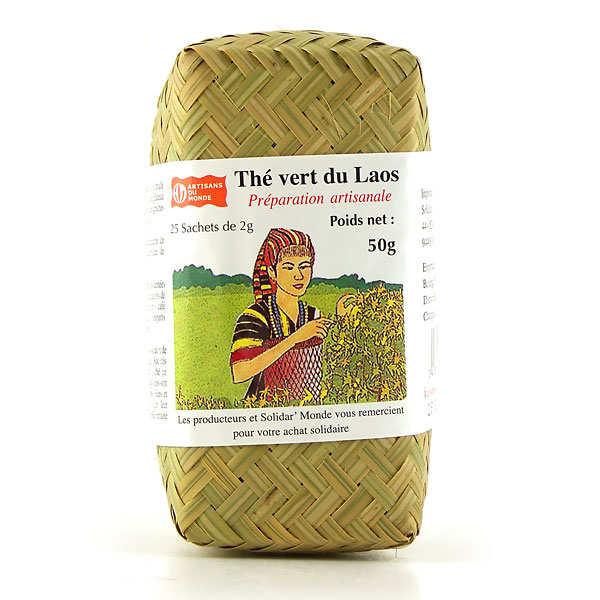 Thé vert du Laos en infusettes (commerce équitable)