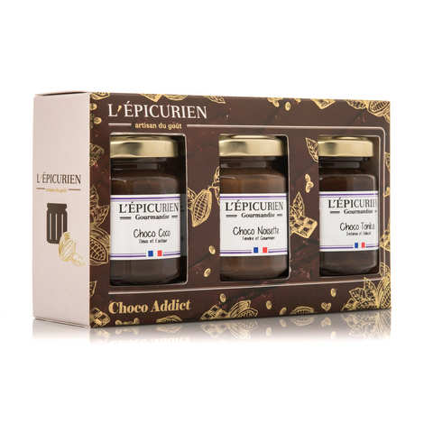 L'épicurien - Coffret choco addict - pâtes à tartiner