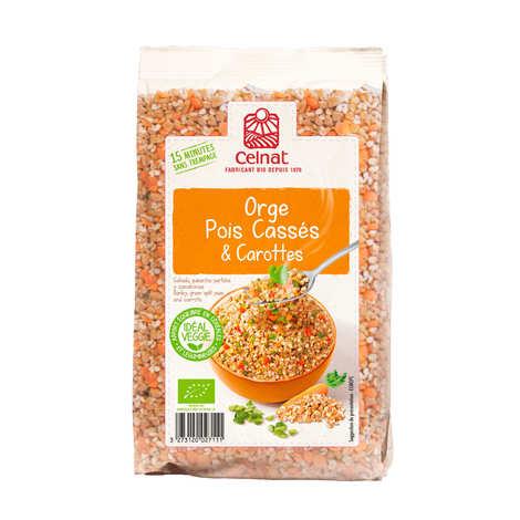 Celnat - Mélange orge, pois cassé et carottes bio