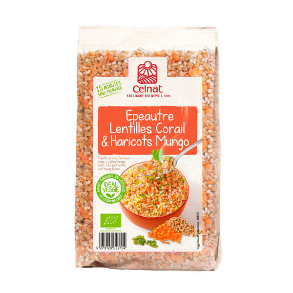 Organic Mix with Spelt, Red Split Lentil and Mungo Bean
