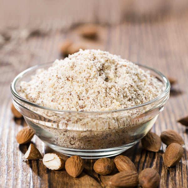 Organic ground wholegrain almonds