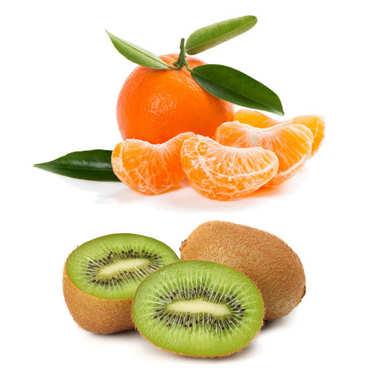 Lot mandarines et kiwis bio