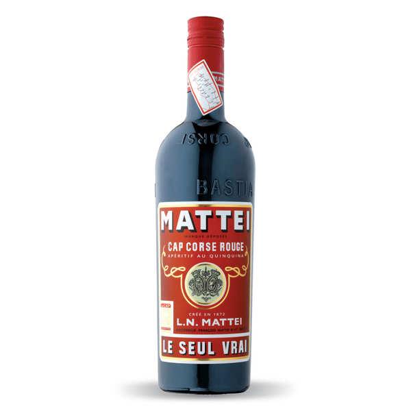 Cap mattei rouge - apéritif corse au quinquina - bouteille 75cl