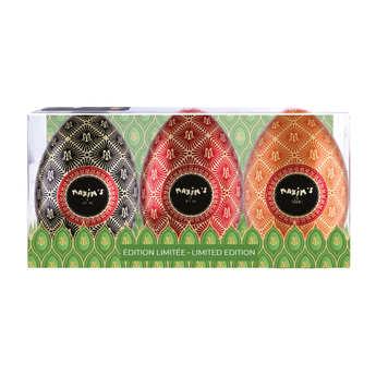 Maxim's de Paris - Etui 3 mini oeufs métal Maxim's garnis de chocolats