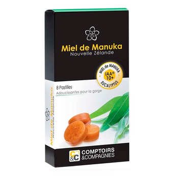 Comptoirs et Compagnies - Manuka honey and Eucalyptus IAA 10+ pastilles