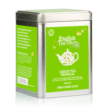 English Tea Shop - Organic Tropical Green Tea - Metal box