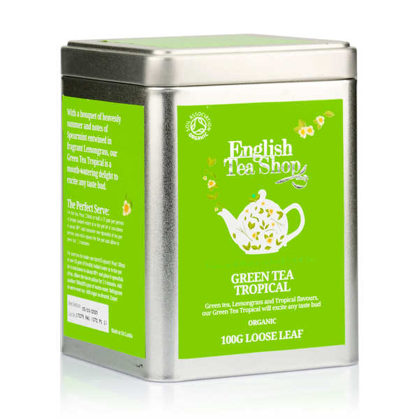 Organic Tropical Green Tea - Metal box