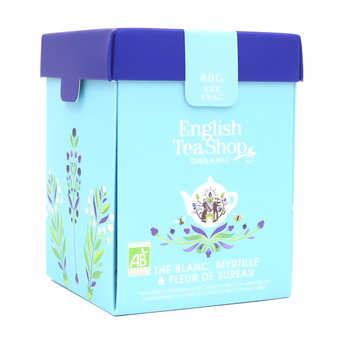 English Tea Shop - Thé blanc fleur de sureau myrtille bio - Boite métal