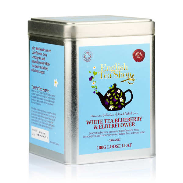 Organic White Tea with Elderflower and Blueberry - Metal box
