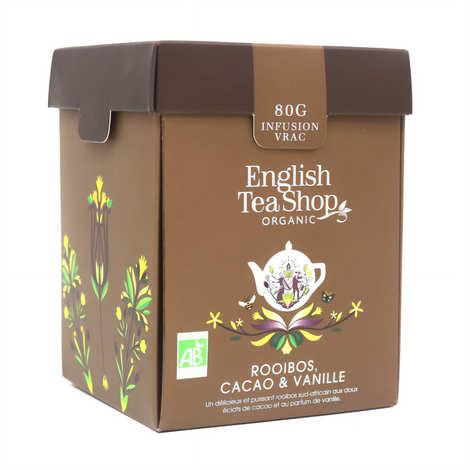 English Tea Shop - Organic Rooibos Tea with Chocolate and Vanilla - Metal box