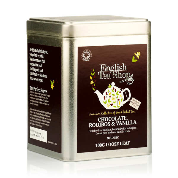 Organic Rooibos Tea with Chocolate and Vanilla - Metal box