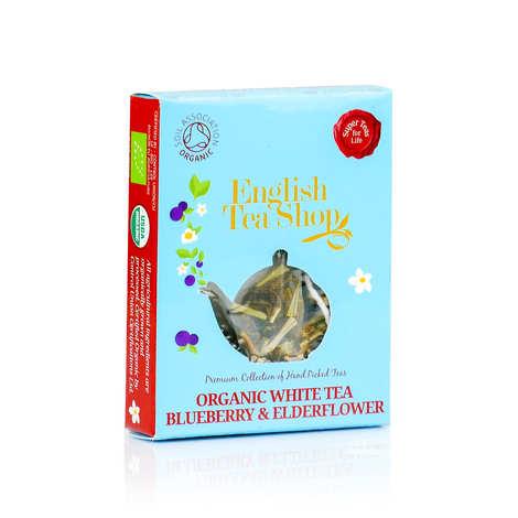 English Tea Shop - Thé blanc fleur de sureau et myrtille bio en sachet individuel