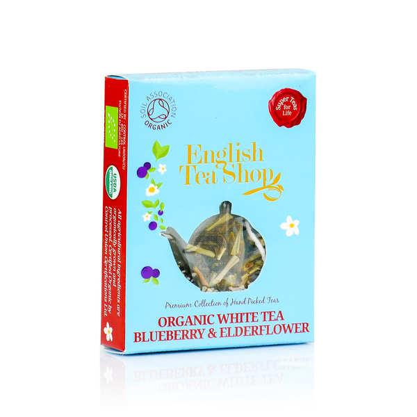 Thé blanc fleur de sureau et myrtille bio en sachet individuel