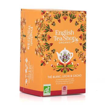 English Tea Shop - Thé blanc cacao litchi bio - sachet mousseline
