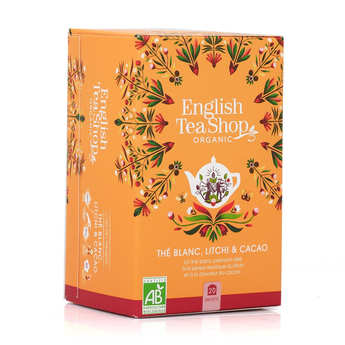 English Tea Shop - Thé blanc cacao litchi bio en sachets