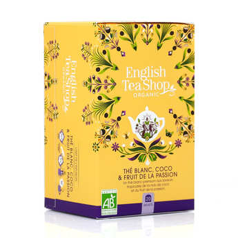 English Tea Shop - Thé blanc coco passion bio en sachets