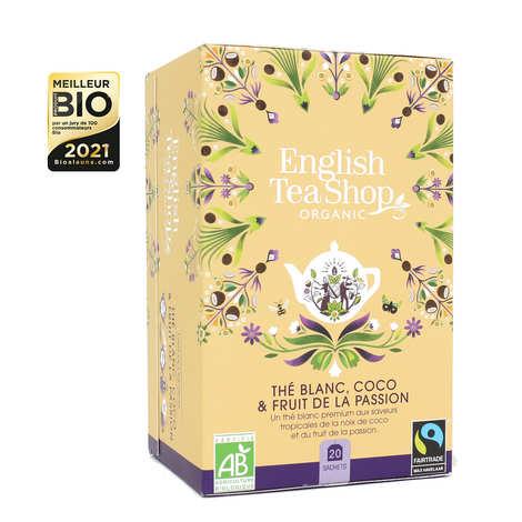 English Tea Shop - Thé blanc coco passion bio en sachets