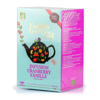 English Tea Shop - Organic Cranberry Vanilla Herbal Tea - muslin sachet