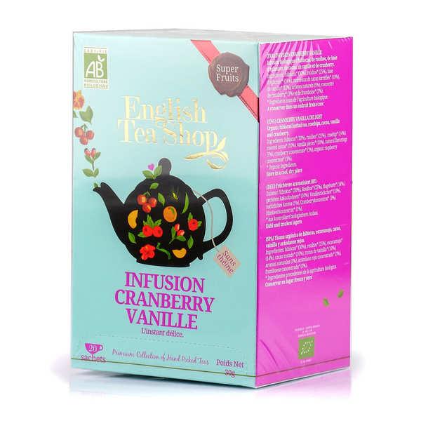 Infusion cranberry vanille bio en sachets