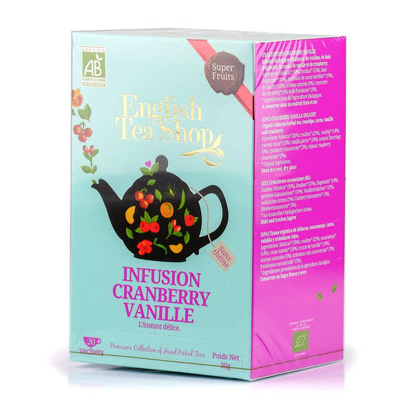 Organic Cranberry Vanilla Herbal Tea - muslin sachet