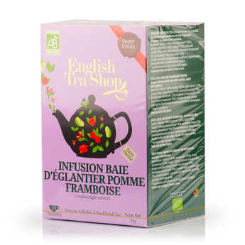 English Tea Shop - Infusion baie d'églantier pomme framboise bio - sachet mousseline