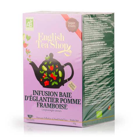 English Tea Shop - Infusion baie d'églantier pomme framboise bio en sachets