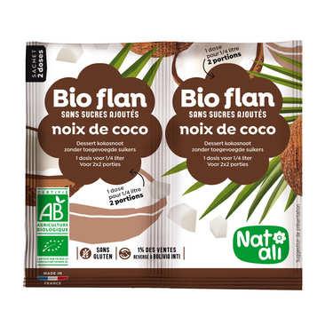 Bio flan sans sucres ajoutés à la noix de coco