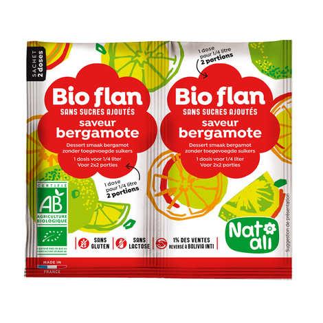 Nat-Ali - Bio flan non sucré parfum bergamote