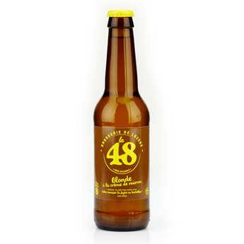 Brasserie de Lozère La48 - Blond French Beer with Chestnut Cream - La48 5%