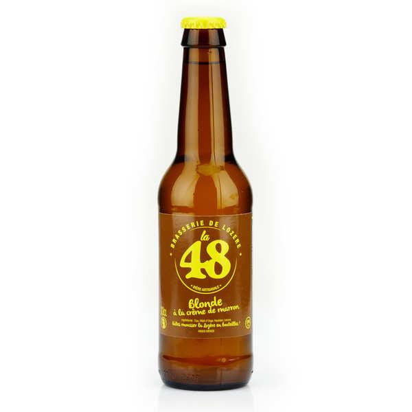 Bière La48 de Lozère - Blonde à la crème de marron 5%