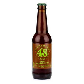 Brasserie de Lozère La48 - Bière La48 de Lozère - Ambrée à la liqueur de cèpe 5%