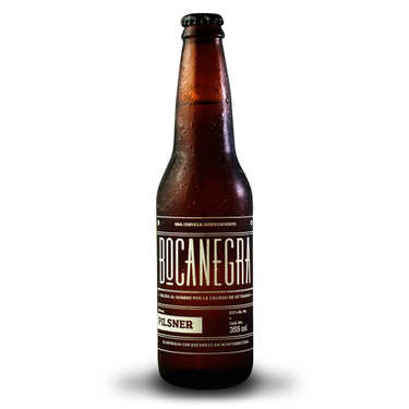 Bocanegra Pilsner Beer from Mexico 5%