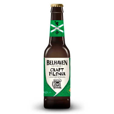 Belhaven Craft Pilsner from Scotland 4.8%