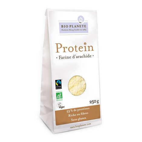 BioPlanète - Farine d'arachide bio sans gluten et vegan - Gamme Protéin