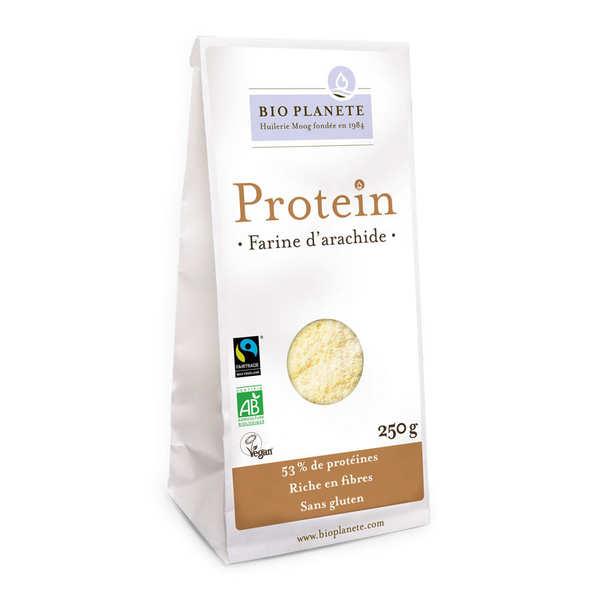 Farine d'arachide bio sans gluten et vegan - Gamme Protéin