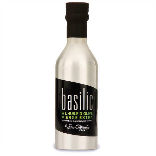Huile d'olive extra vierge au basilic