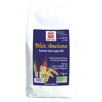Celnat - Farine de blé ancien bise bio type 80