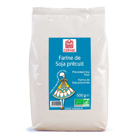 Celnat - Organic Precooked Soya Flour
