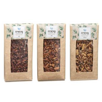 Cracoy - Trio de tablettes de chocolat et pignon de pin Cracoy