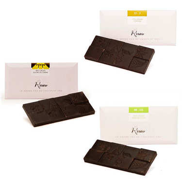 Raw chocolate assortment