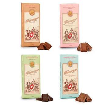 Favarger - Assortiment découverte des tablettes de chocolat suisse Favarger