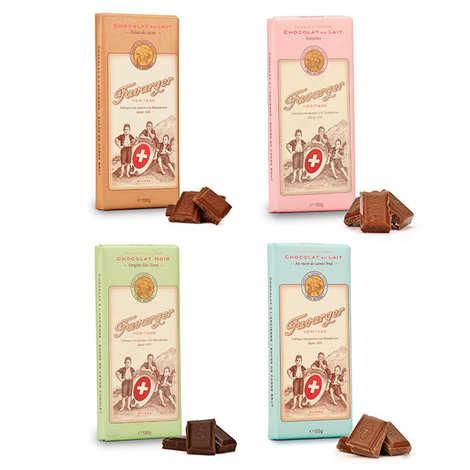 Favarger - Assortiment découverte des tablettes de chocolat suisse Favarger