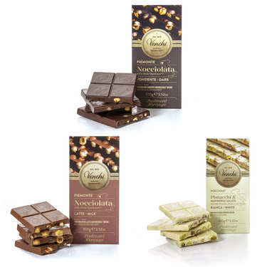 Trio of Italian chocolate bars Venchi
