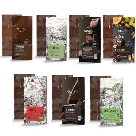 Michel Cluizel - Assortiment découverte de tablettes de chocolat Michel Cluizel