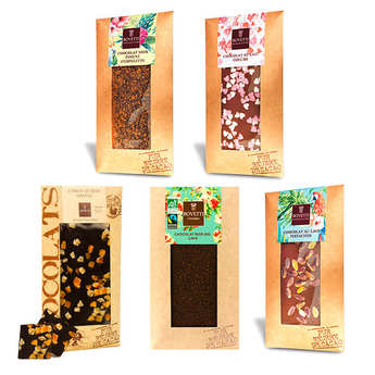Bovetti chocolats - Assortiment découverte tablettes de chocolat Bovetti