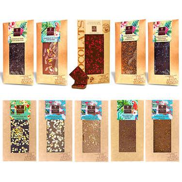 Assortiment premium tablettes de chocolat Bovetti