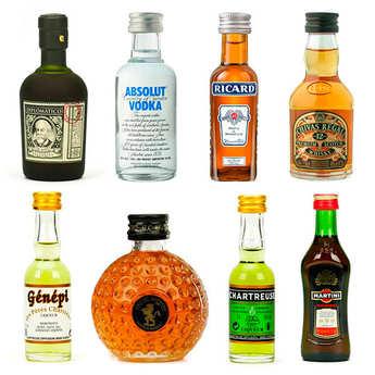- Assortiment découverte d'alcools en version mignonnettes