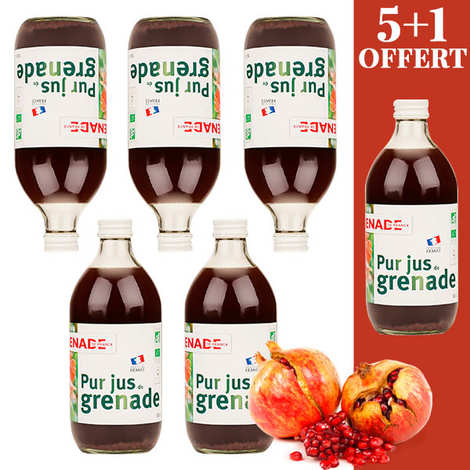 Grenade de France - Organic and Vegan French Pomegranate Juice - 5 +1 free