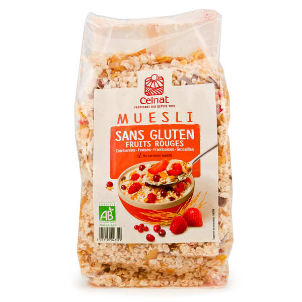 Muesli aux fruits rouges sans gluten bio