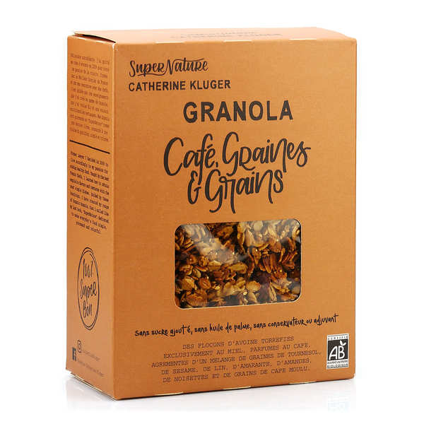 Organic Coffee and Seed Granola